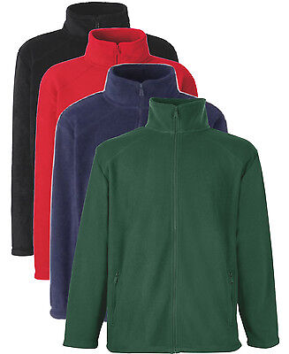 Boys Girls Childs RED BLUE GREEN or BLACK Full Zip Fleece to Clear