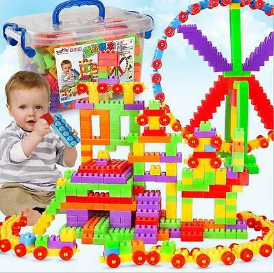 400pcs Plastic Building Blocks Kids Toys Puzzle Educational Toy Baby Gift