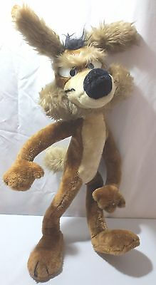 "Wile E.Coyote 20"" Plush Stuffed Poseable Animal 1971 Warner Brothers Mighty Star"