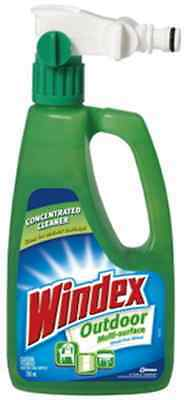 Windex Outdoor Surface & Glass Cleaner 750ml box of 6 ready to use attach to hos