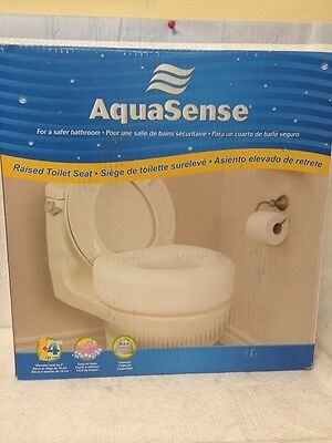 Aquasense ~ Raised Toiler Seat ~ For A Safer Bathroom Elevates Seat By 4 Inches