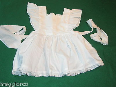 White with  Eyelet Trim  Baby Toddler Pinafore in about size 2-3