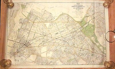 1938 North Queens Long Island NY Worlds Fair MAP