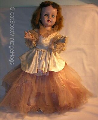 """1950s 24"""" American Character Sweet Sue Toddler Walker HP Doll Ballerina Outfit"""