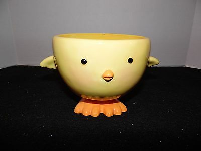 Hallmark Yellow Chick Chicken Candy Nut Dish Soup Mug Bowl
