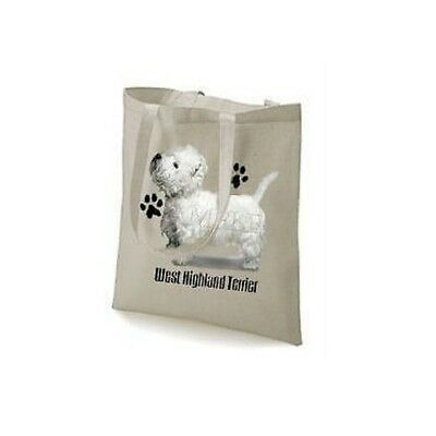 West Highland Terrier Paws Design Printed Tote Bag