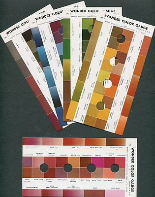 Wonder Color Gauge, pristine NOS. 5 color cards + index card...