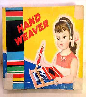 Vintage Toy Hand Weaver Weaving Loom in Box, c1940's?, Made in China (4546)