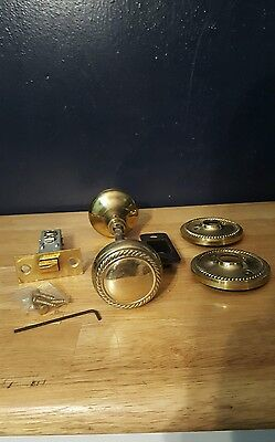 Vintage Brass Door Knobs with Hardware