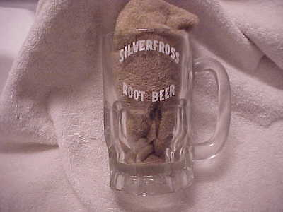 1960's SILVERFROSS ROOT BEER GLASS MUG OTTAWA ILLINOIS DRIVE IN NOW CLOSED RARE
