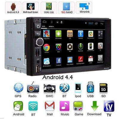 """GPS Android 4.4 CAR HD 7"""" 2 DIN STEREO MP3 MP5 RADIO PLAYER BLUETOOTH FM/USB"""