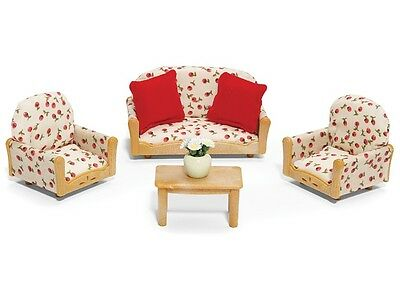 Calico Critters LIVING ROOM SUITE FURNITURE SET ~NEW~