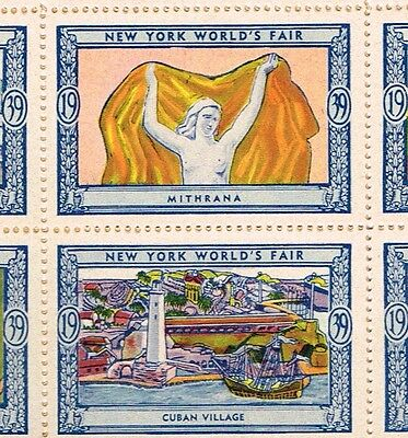 ALL ORIGINAL/NEW IN ENVELOPE 1939 New York Worlds Fair 54 Poster Stamps