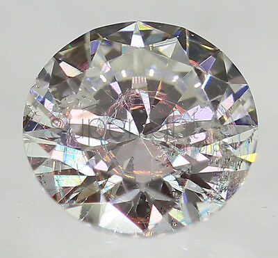Certified 0.30 Carat F SI1 Round Brilliant Enhanced Natural Loose Diamond 4.4mm