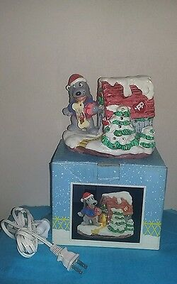 Vintage Pound Puppies Lighted Christmas House 1987