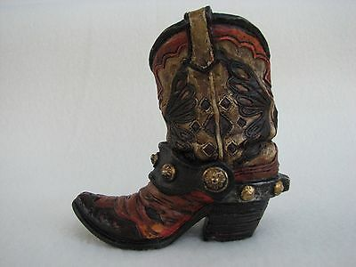 Hand Painted Butterfly on a Cowboy Boot Indoor Western Decor