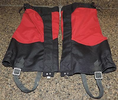 L.L. BEAN Outdoor Men's Red/Black Waterproof Snow Gaiters Size Small