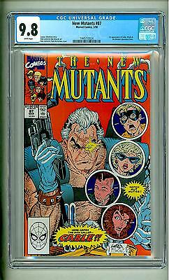 New Mutants #87 Cgc 9.8 First Cable 1990