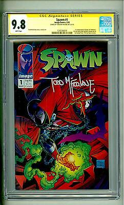 Spawn #1 Cgc 9.8 Ss Todd Mcfarlane Signature 1992 First Edition