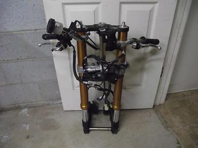 2009-2014 Yamaha Yzf R1 Front Forks With Axle Upper & Lower Triple Clamp Tree