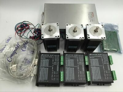 3Axis Nema23 Stepper Motor Driver Kit 0.55Nm L41mm&350W Power Supply CNC Router