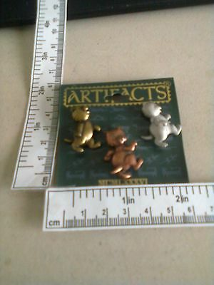 JJ Original Cats Cat Pewter Copper And Brass Pin Pins