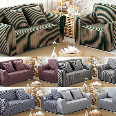 1/2 Seater Sofa Slipcover Stretch Protector Pillow Case Cover Washable Easy Fit