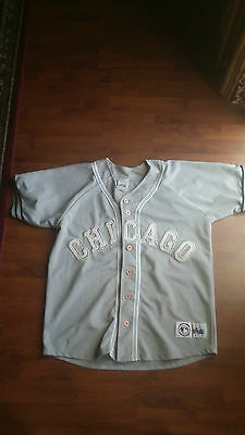 baseball mlb - chicago cubs grey jersey - size large