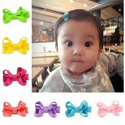 Cute Baby Girl Toddler Bowknot Hair Clip Hairpin Headband Hair Accessories 10Pcs