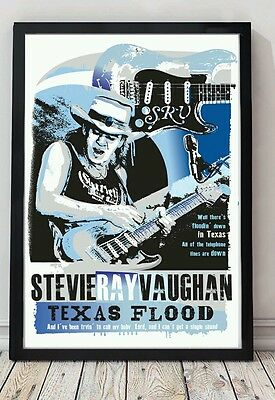 Stevie ray vaughan specially designed blues poster print