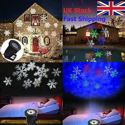 Outdoor Snowflake Laser LED Landscape Light Garden Holiday Projector Christmas R