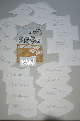 Creative Memories WEDDING ACCENTS PAPER TITLES & FRAMES Getting Married Kit