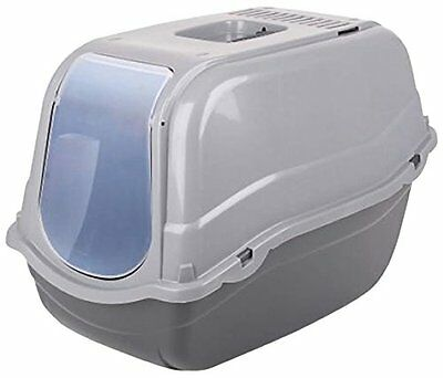 Click and Secure Pet Cat Litter Tray Toilet Box, Grey