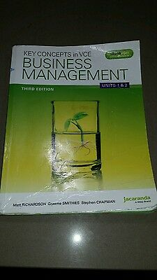 KEY CONCEPTS IN VCE BUSINESS MANAGEMENT UNITS 1 & 2 3E Third edition