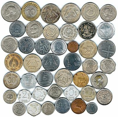 44 different world coins from INDIA some scarce