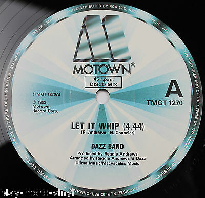 "DAZZ BAND Let It Whip / Everyday Love 12"" vinyl UK 1982 Motown plays NM!"