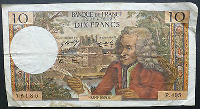 France Ten Francs Bank Note