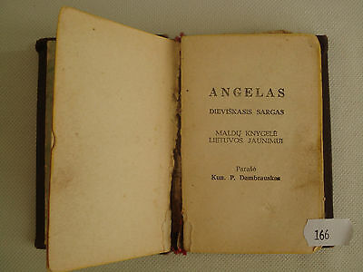 Vintage Old  1934 Formulary Prayer Religious Book Lithuanian Lietuva  Nr 1140