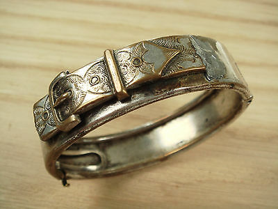 Antique Brass Silver plated 1882 Bracelet need repair Rare Collectible Nr6289
