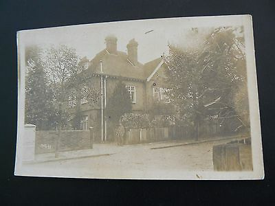 Real Photo RP Postcard by H A Giles of Reading - Army Sentry outside house