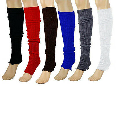 Women Winter Warm Knitted Leg Warmers Stocking Socks Finger less Gloves Mirable