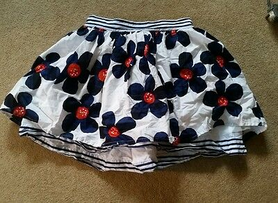 Girls Blue Flower Skirt Age 13-14