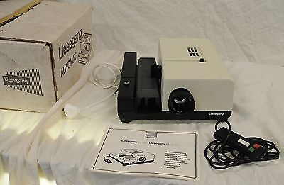 Liesegang Automat Auto-Focus 35mm Film Slide Projector + Box +Accessories (349)