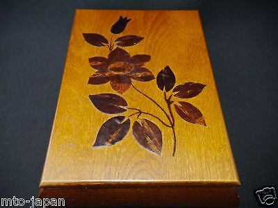 Japanese Traditional Flower Design 6.1 Inched X 8.46 Inched Wooden Box  (11Te-5)