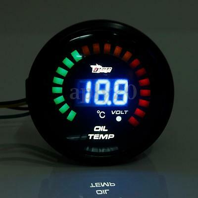 2''52Mm Digitale Led Strumento Manometro Temperatura Olio Temp 20-150℃ Auto Race