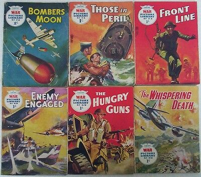 Dated 1960. JOB LOT of 6 x WAR PICTURE LIBRARY Comics  #'s 68 - 74