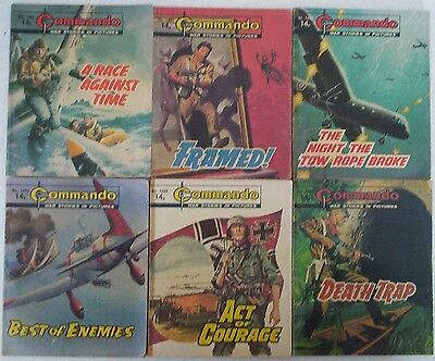 Lot 13. SIX COMMANDO War Picture Comics #s 1480 - 1492. Dated 1981.