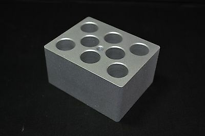TECHNE F3508 ALUMINUM BLOCK FOR 19mm TUBES, 8 HOLES