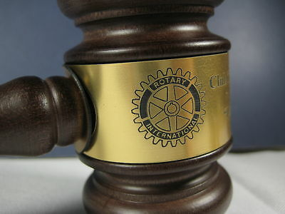 """Personalized Engraved 10.5"""" Rotary Club Wood Gavel"""