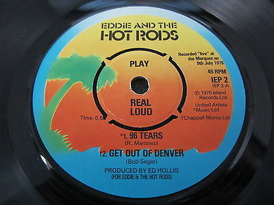 """Eddie And The Hotrods Live At The Marquee 1976 Island 7"""" 45 Single Punk Rock"""